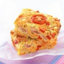Healthy Food Recipes - Ham and vegetable Slice